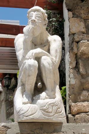 Thinker Sculpture near St. Peters Church in old city Jaffa, Israel Stock Photo - 7305023