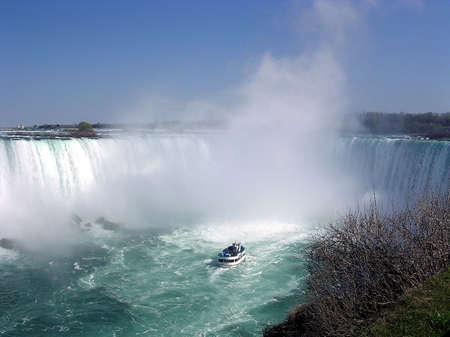 Tourist boat at Niagara Falls May 2003, Canada
