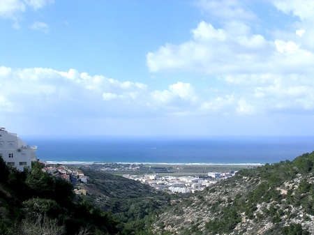 View to Mediterranean from Denya in Haifa, Israel