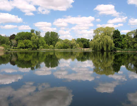 Oakbank Pond in Summer in Thornhill Ontario, Canada Stock Photo - 7363298