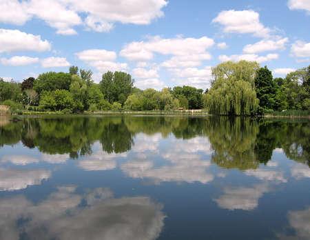 oakbank: Oakbank Pond in Summer in Thornhill Ontario, Canada
