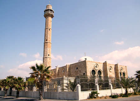 tel: Hasan-bey Mosque in Tel Aviv, Israel Stock Photo