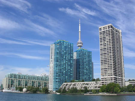 Viev to Harbour Front from Lake Ontario in Toronto, Canada