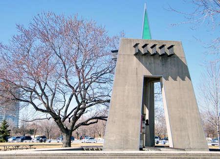 casimir: Sir Casimir Gzowski Memorial on bank of lake Ontario in Toronto, Canada