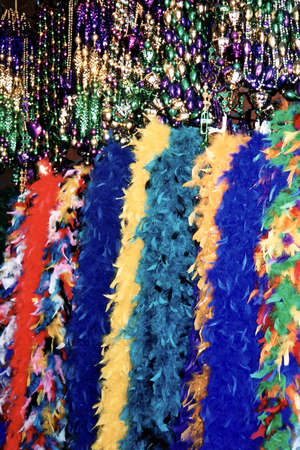 Multi colored tinsel in French Quarter of New Orleans Louisiana, USA photo