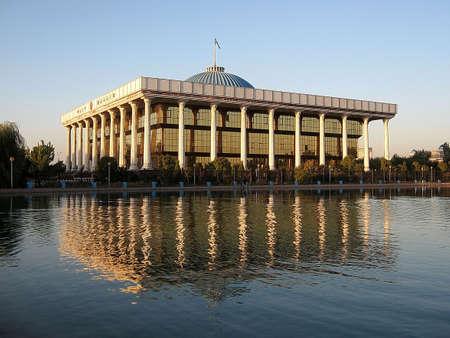 Majlis (Parliament) building in Tashkent, the capital of Uzbekistan