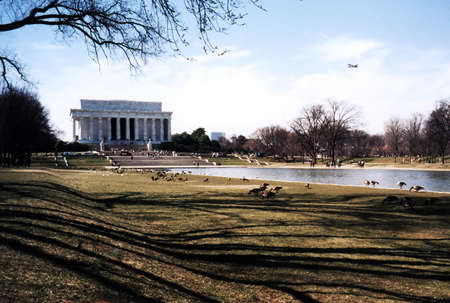 Environment of Abraham Lincoln National Memorial in Washington DC Stock fotó - 7658851