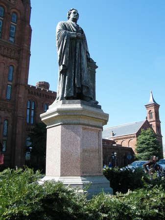 Joseph Henry Statue near Smithsonian Institution Castle in Washington DC, USA  photo