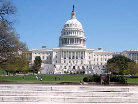 Central part of Capitol in Washington DC, USA  Stock Photo