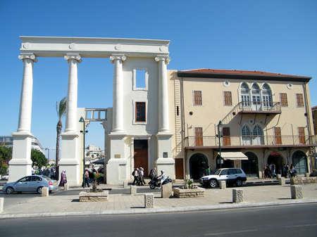 yaffo: Saraya edificio de la antigua ciudad de Jaffa, Israel  Foto de archivo