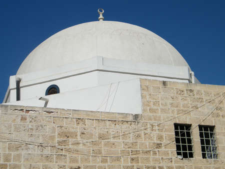 White Dome of Mahmoudiya Mosque in old city Jaffa, Israel        photo