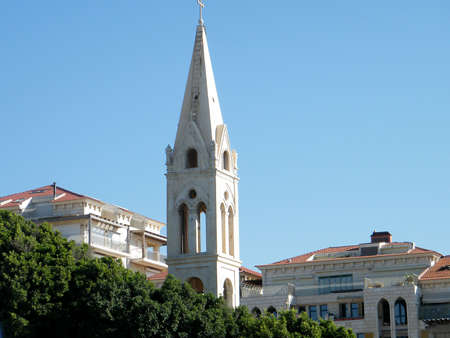 New buildings and new church in old city Jaffa, Israel Stock Photo - 8013976