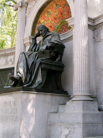 discoverer: Estatua de Samuel Hahnemann, descubridor de la homeopat�a, para el monumento memorial en Washington DC