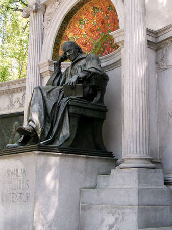 samuel: Statue of Samuel Hahnemann, discoverer of Homeopathy, for the memorial monument in Washington DC Stock Photo