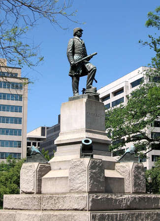 admiral: Statue of Admiral David Farragut in Washington DC Stock Photo