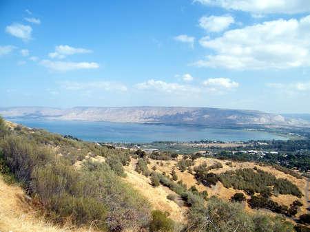 Lake Kinneret ( sea of Galilee ) in Israel