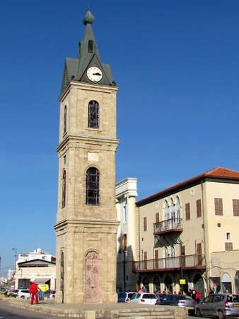 Clock Tower and Saraya building in old city Jaffa, Israel