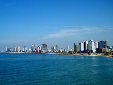 jewish houses: View to Tel Aviv from old city Jaffa, Israel Editorial