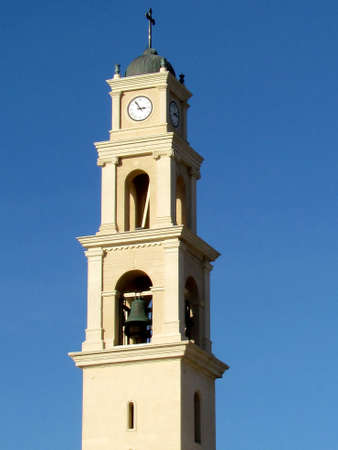 Bell Tower of Saint Peter Church in old city Jaffa, Israel                                 Stock Photo - 13287682