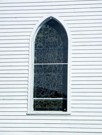 Window of Holy Trinity Church in Thornhill, Canada Stock Photo - 13287965