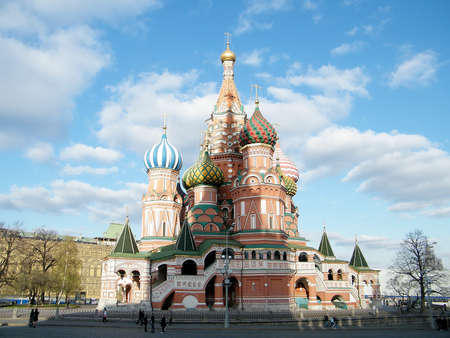 Cathedral of Basil the blessed in Moscow, Russia