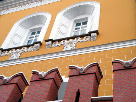 arsenal: Windows of Arsenal of Moscow Kremlin in Moscow, Russia