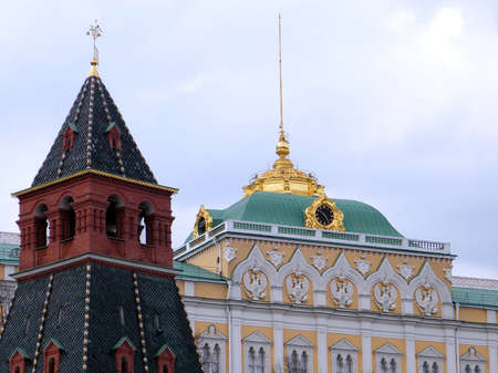 Annunciation Tower of Moscow Kremlin in Moscow, Russia photo