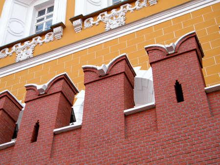 모스크바, 러시아에서 크렘린 벽의 치아 스톡 콘텐츠