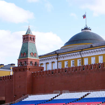 Senatskaya tower of Moscow Kremlin in Moscow, Russia photo