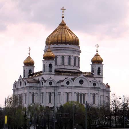 Cathedral of Christ the Saviour evening in Moscow, Russia                                 photo