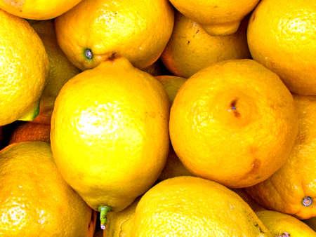 Large lemons on bazaar in Tel Aviv, Israel Stock fotó - 13670642