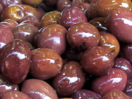 Large delicious olives on bazaar Carmel in Tel Aviv, Israel Stock Photo - 13682807