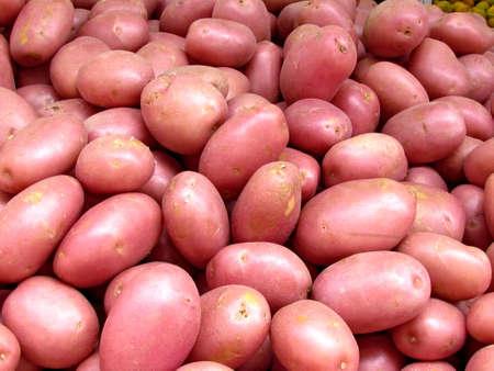 Red Potatoes on bazaar in Tel Aviv, Israel Stock fotó - 13806647
