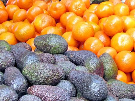 Avocado and tangerines on bazaar in Tel Aviv, Israel Stock fotó - 17441708