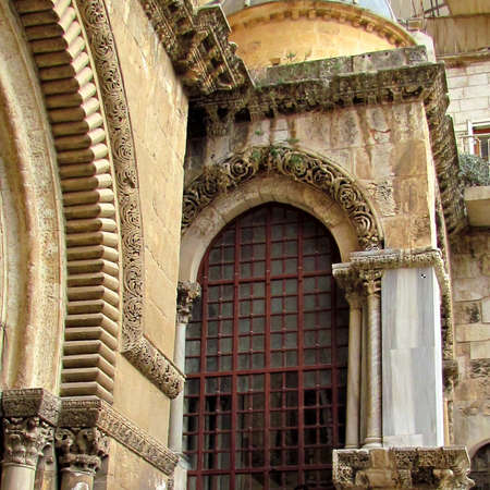 Fragment of building of Church of the Holy Sepulcher in Jerusalem, Israel Stock Photo - 17703172