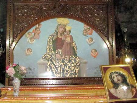 Altar of the church of Virgin Marys tomb in Jerusalem, Israel