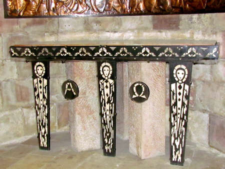 The lower part of the Crypt altar States Ivory Coast in  Dormition Abbey in Jerusalem, Israel photo