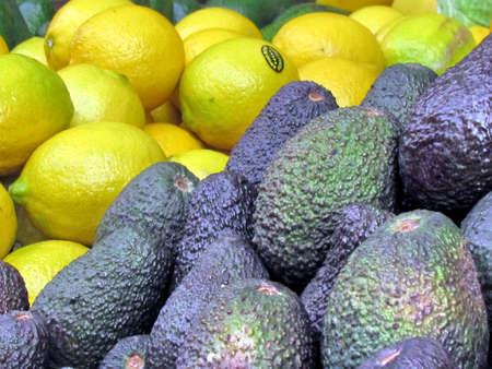 Avocado and lemons on bazaar in Tel Aviv, Israel Stock fotó - 29968196