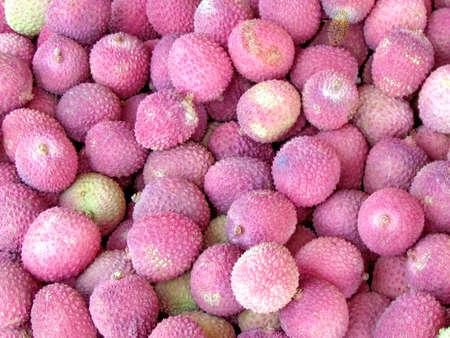 Lichi Fruits on bazaar in Tel Aviv, Israel Stock fotó - 29968275