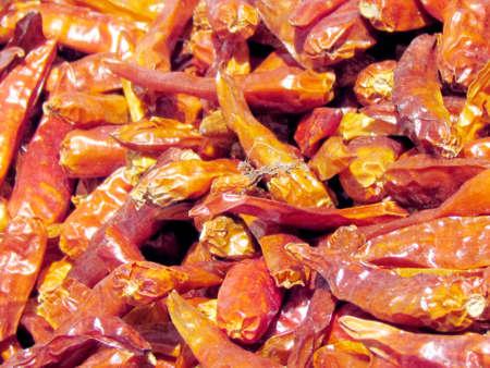 Dried red hot peppers on bazaar in Tel Aviv, Israel Stock fotó - 29968380
