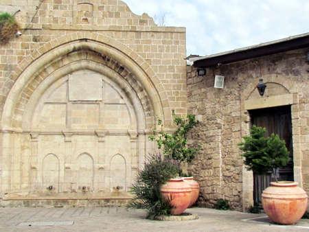 The lower part of Al-siksik mosque in old city Jaffa, Israel