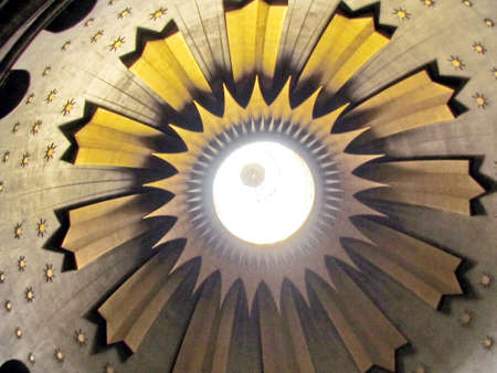 The top of central dome of  Church of the Holy Sepulcher in old city of Jerusalem, Israel                                 photo