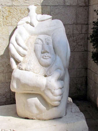 jaffo: View of the modern sculpture in old city Jaffa, Israel
