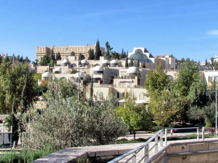 The beautiful view from Jaffa Gate in old Jerusalem, Israel                                photo
