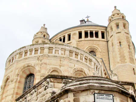 the Church of Dormition Abbey in Jerusalem, Israel                               photo