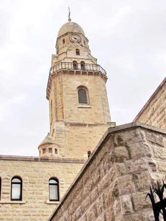 The Bell Tower of  Dormition Abbey in Jerusalem, Israel                                   photo