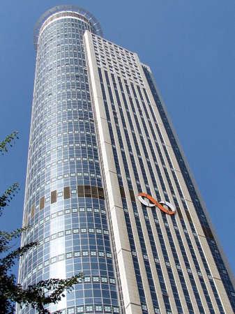 ramat aviv: Modern blue skyscraper in Ramat Gan part of the metropolis of Tel Aviv, Israel                                    Editorial