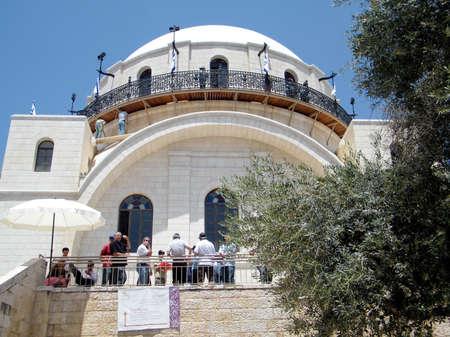 hurva: Hurva Synagogue in Jewish quarter of Old Jerusalem, Israel