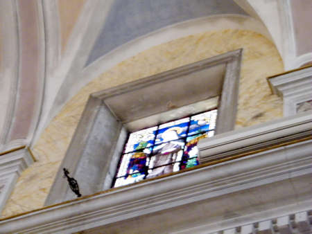 Stained Glass in Saint Peter Church in old city Jaffa, Israel
