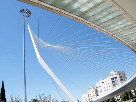 Die neue Brücke von Strings in Jerusalem, Israel